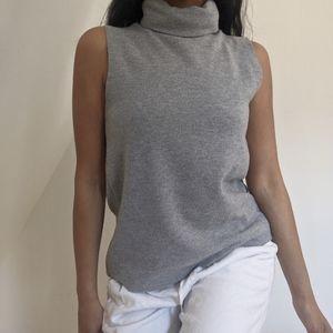 Zara sleeveless grey turtleneck